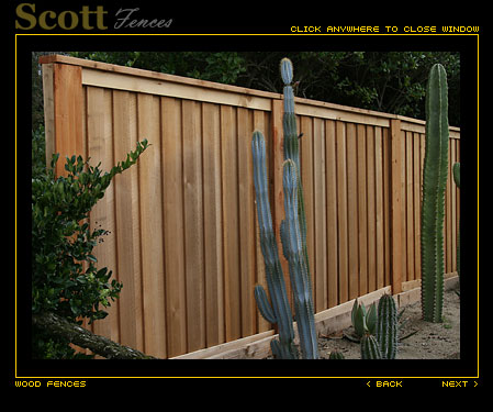BOARD ON BOARD PICTURE FRAME FENCE WITH COMBO STEEL POSTS