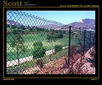 BLACK VINYL CHAIN LINK BRIDGES OF RANCHO SANTA FE