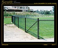 BLACK VINYL CHAIN LINK BASEBALL FIELD