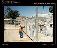 GALVANIZED CHAIN LINK WAP ANIMAL PENS