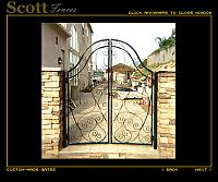 SCROLL DESIGN IRON GATE