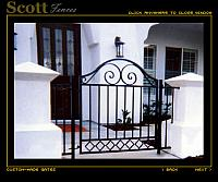 WALK GATE WITH SCROLL DESIGN