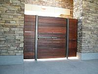POOL GATES WITH IPEA WOOD AND IRON