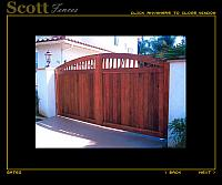 WOOD AND IRON AUTO ENTRY GATES WITH GATE OPERATORS