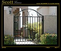 IRON COURTYARD ENTRANCE GATE