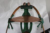 HAND FORGED FROG SHELF WITH COPPER AND RON YOUNG PATINA
