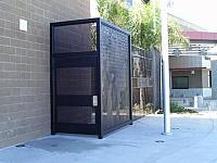 Iron Gate with Perforated Metal -Panel Custom Water Jet Cut