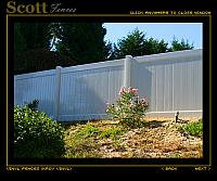 ANTIQUE WHITE VINYL FENCING