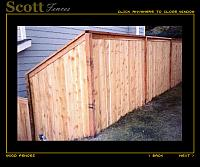 PICTURE FRAME CEDAR WOOD FENCE
