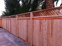 Picture Frame Cedar Wood Fence With Steel Hidden Combo Posts